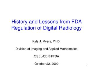 History and Lessons from FDA Regulation of Digital Radiology