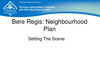 Bere Regis: Neighbourhood Plan