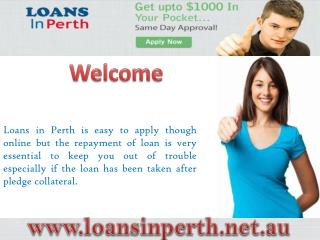 Loans In Perth- Get Easiest Financial Help In Perth