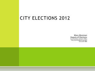 CITY ELECTIONS 2012