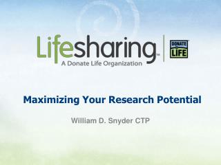 Maximizing Your Research Potential