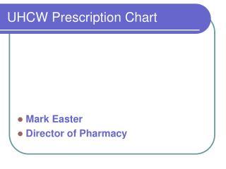 UHCW Prescription Chart