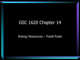 GSC 1620 Chapter 14