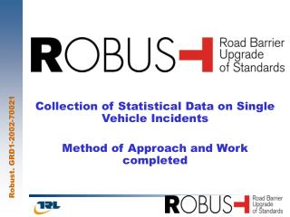 Collection of Statistical Data on Single Vehicle Incidents Method of Approach and Work completed