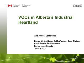 VOCs in Alberta's Industrial Heartland