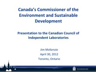 Jim McKenzie April 30, 2012 Toronto, Ontario