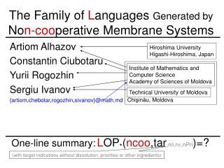 The Family of  L anguages  Generated by  No n -co o perative Membrane Systems