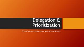 Delegation & Prioritization