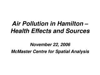 Clean Air Hamilton Strategy