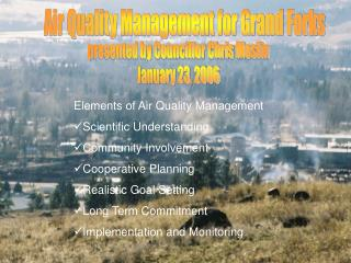 Air Quality Management for Grand Forks