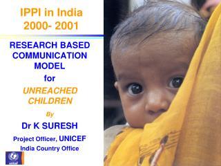 IPPI in India  2000- 2001