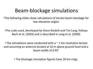 Beam-blockage simulations