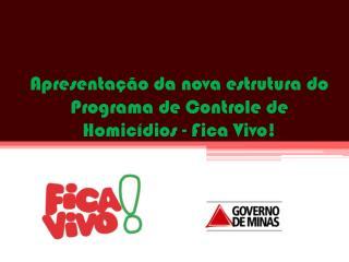 Apresentação da nova estrutura do Programa de Controle de Homicídios - Fica Vivo!