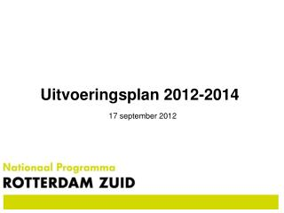 Uitvoeringsplan 2012-2014