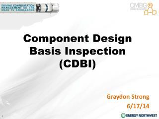 Component Design Basis Inspection (CDBI)