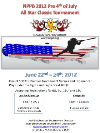 NPPB 2012 Pre 4 th  of July All Star Classic Tournament
