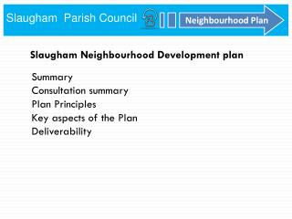 Slaugham Neighbourhood Development plan