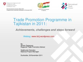 Trade Promotion Programme in Tajikistan in 2011:
