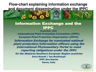 Flow-chart explaining information exchange and document dissemination under the IPPC