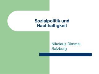 Sozialpolitik und  Nachhaltigkeit