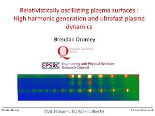Relativistically oscillating plasma surfaces :
