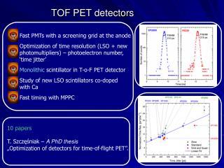 TOF PET detectors