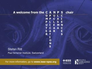 Stefan Ritt Paul Scherrer Institute, Switzerland