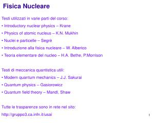 Fisica Nucleare