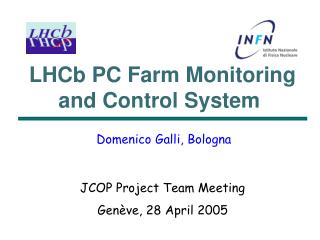 LHCb PC Farm Monitoring and Control System