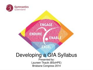 Developing a GfA Syllabus Presented by: Laureen Tkacik (BScHPE) Brisbane Congress 2014