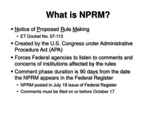 What is NPRM?