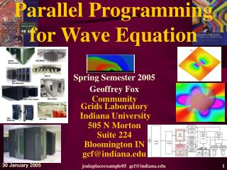 Parallel Programming  for Wave Equation