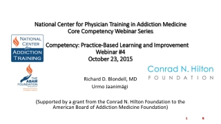 Moving Adolescent Treatment to Evidenced-Based Practice