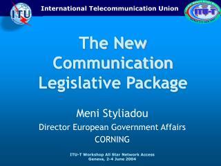 Meni Styliadou Director European Government Affairs CORNING