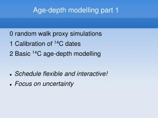 Age-depth modelling part 1