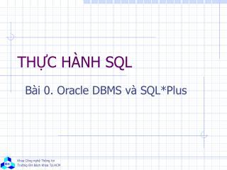 THỰC HÀNH SQL