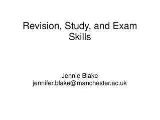 Revision, Study, and Exam Skills