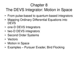 Chapter 8  The DEVS Integrator: Motion in Space