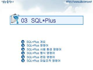 03  SQL*Plus
