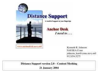 Kenneth R. Johnson NAVSEA Crane johnson_ken@crane.navy.mil 812.854.5275