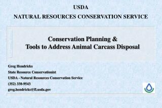 Conservation Planning & Tools to Address Animal Carcass Disposal