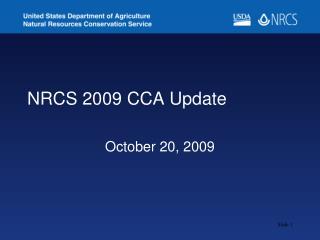 NRCS 2009 CCA Update