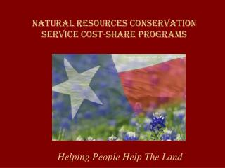 Natural Resources conservation service Cost-share Programs