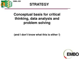 Conceptual basis for critical thinking, data analysis and problem solving