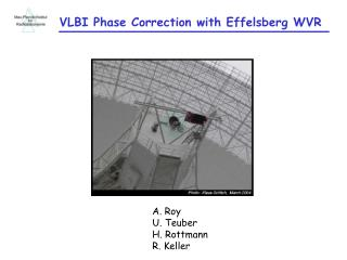 VLBI Phase Correction with Effelsberg WVR
