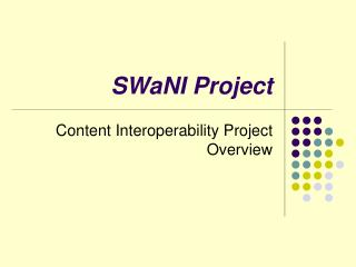 SWaNI Project