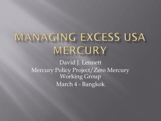 Managing Excess USA Mercury