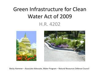 Green Infrastructure for Clean Water Act of 2009