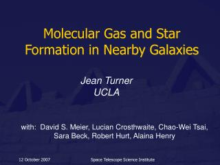 Molecular Gas and Star Formation in Nearby Galaxies