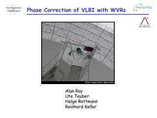Phase Correction of VLBI with WVRs